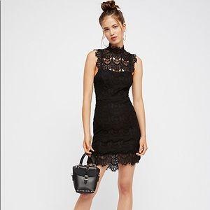 Free People Daydream Bodycon Black Dress Medium